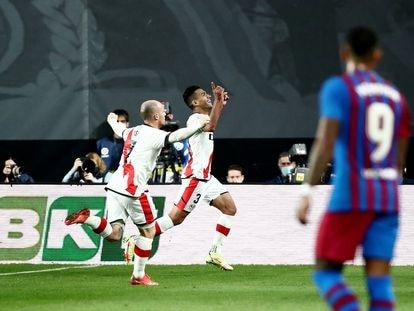 Falcao celebra su gol.