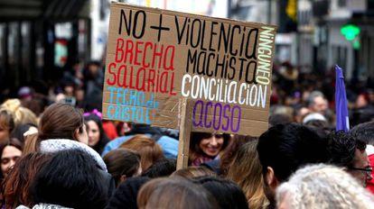 Acto por el Dia Internacional de la Mujer en la plaza de Callao el pasado 8 de marzo.