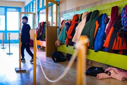 Un alumno, en un colegio público de Navarra.