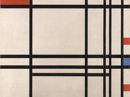 El cuadro 'Abstraction' (1939-42), de Piet Mondrian, conservado en el Kimbell Art Museum.