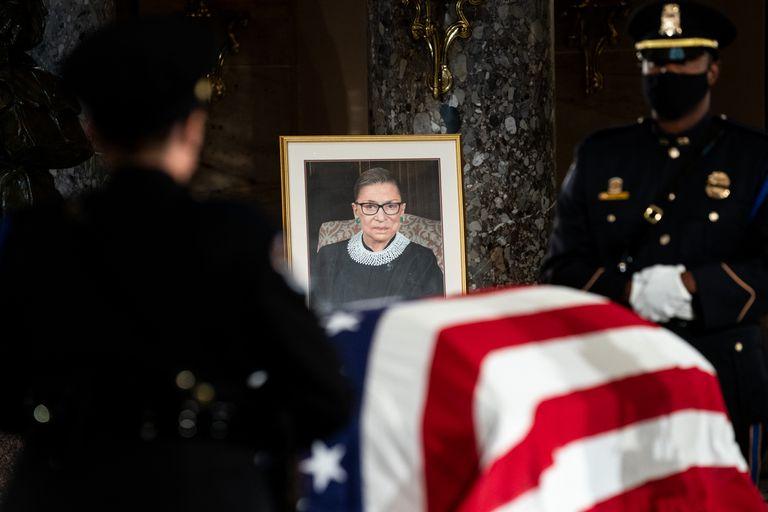 La ceremonia en honor a la juez Ruth Bader Ginsburg, en Washington.