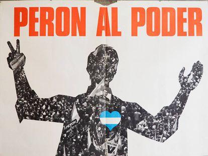Póster de la campaña de Perón a la Presidencia argentina en 1973.