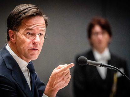 El primer ministro holandés en funciones, Mark Rutte, el pasado jueves en La Haya.