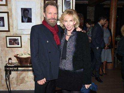 Sting junto a su esposa, Trudie Styler, la semana pasada en Nueva York.