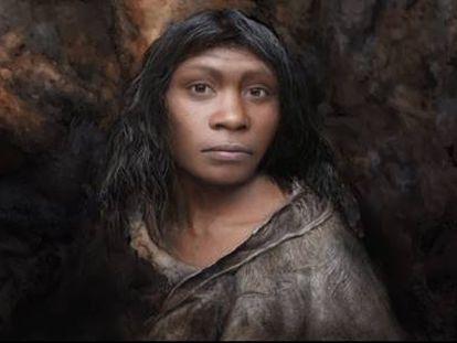 Primera representación de la chica de la Gran Dolina, Individuo H3.