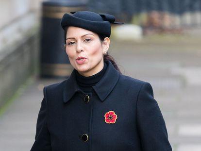 La ministra del Interior del Reino Unido, Priti Patel, el pasado 15 de noviembre en Londres.