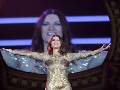 Laura Pausini, durante el concierto de Madrid.