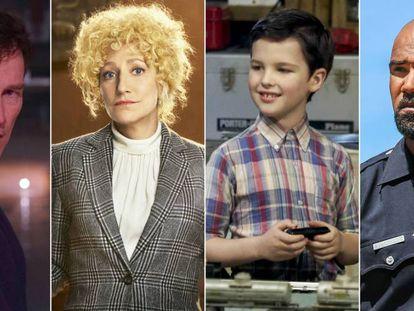 Imágenes de 'The Gifted', 'Ley y orden Trus Crime: El caso Menéndez', 'El joven Sheldon' y 'SWAT'.