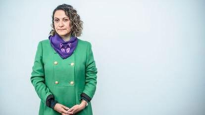 La periodista colombiana Jineth Bedoya, el martes 19 de octubre en la sede de la Fundación para la Libertad de Prensa, en Bogotá.