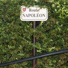Cartel indicativo de la ruta de Napoleón, en el pueblo de Volone (Francia).