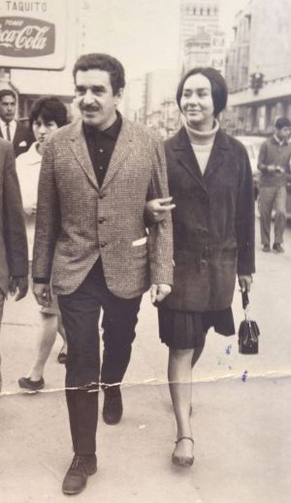 El Nobel colombiano Gabriel García Márquez y su esposa, Mercdes Barcha.