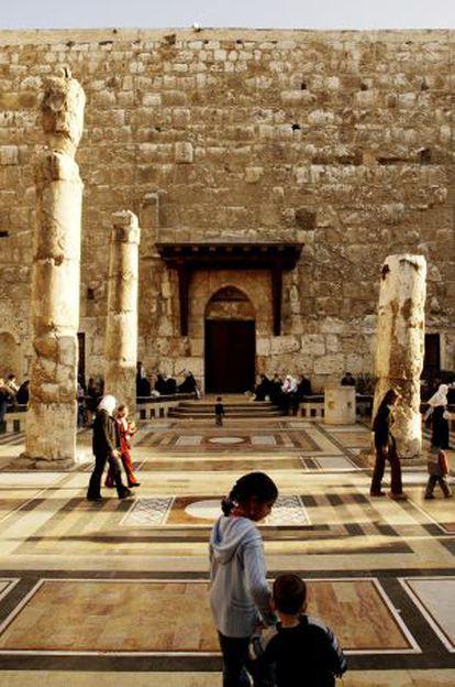 La mezquita omeya de Damasco.