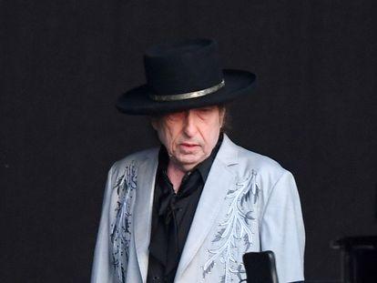 Bob Dylan, en un concierto en Hyde Park (Londres), en julio de 2019.