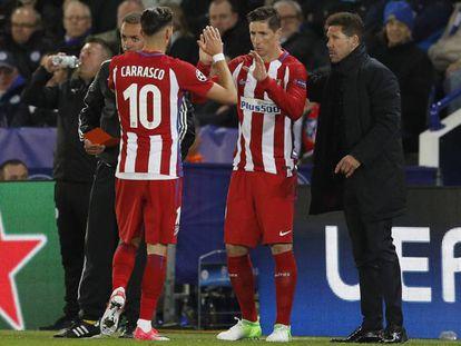 Carrasco es sustituido por Torres tras su lesión ate el Villarreal.