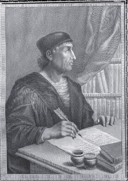 Grabado de Antonio de Nebrija.