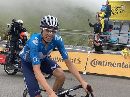 Enric Mas, al final de la etapa de Luz Ardiden.