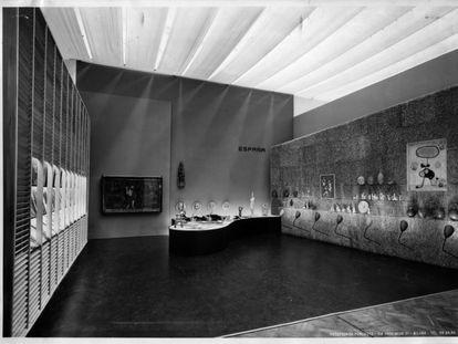 Pabellón español de la IX Trienal de Milán (1951), diseño de José Antonio Coderch.