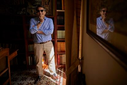 José Soto Chica, historian and writer, this Tuesday at the headquarters of the Center for Byzantine Studies in Granada.