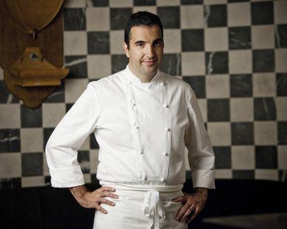El chef de Santceloni Óscar Velasco.
