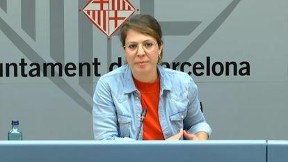 La teniente de alcaldía de Ecología, Urbanismo, Infraestructuras y Movilidad de Barcelona, Janet Sanz.