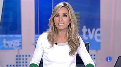 Marta Jaumandreu, presentadora del Telediario de la noche.