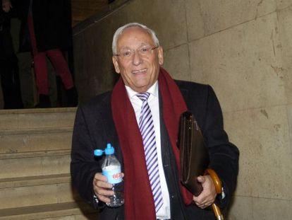 El presidente de la entidad, Atilano Soto, en los juzgados de Segovia.