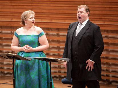 Christine Goerke y Stuart Skelton durante la versión de concierto del segundo acto de 'Tristán e Isolda'.