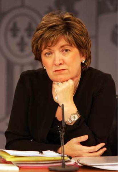 María Jesús San Segundo, tras el Consejo de Ministros.