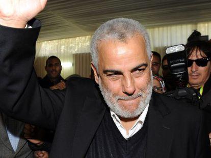 El líder del PJD, Abdelilá Benkiran, tras confirmarse su victoria.