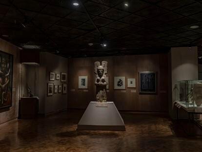 Escultura La joven de Amajac, de la cual se construirá una réplica que para sustituir a la estatua de Cristóbal Colón en Paseo de la Reforma, de Ciudad de México.