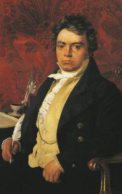 Retrato de Beethoven de autor anónimo.