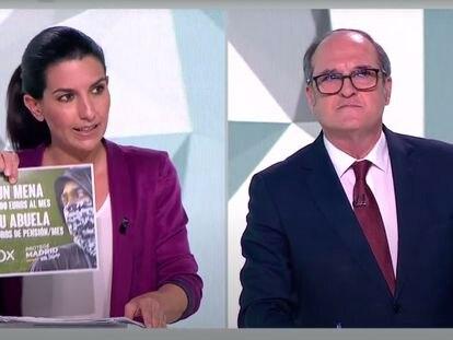 Rocío Monasterio y Ángel Gabilondo, en un momento del debate de este miércoles.