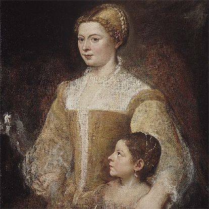 Christie&#39;s espera vender <i>Retrato de dama con su hija</i> de Tiziano por entre 8,6 y 13,7 millones de dólares.