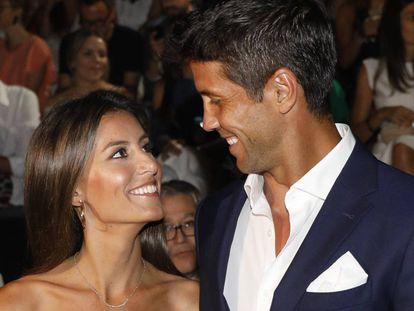 Ana Boyer y Fernando Verdasco el pasado 8 de julio en un desfile en Madrid.