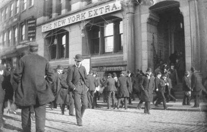 Nueva York a finales del siglo XIX, cuando Verea dirigía su periódico.