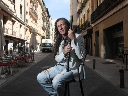 Jorge Pardo, la semana pasada, en una calle céntrica de Madrid.