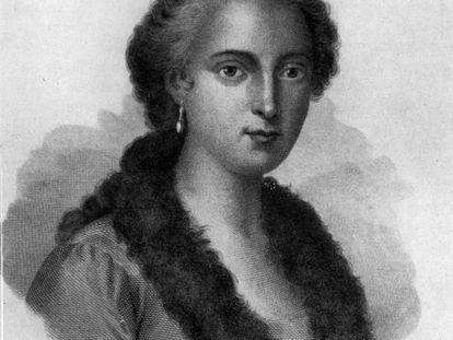 Maria Agnesi, en un grabado de 1836.