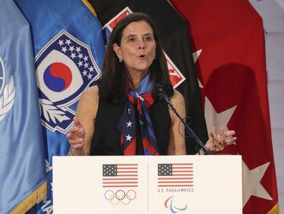 La comisionada de la NWSL, Lisa Baird, en una foto de archivo.