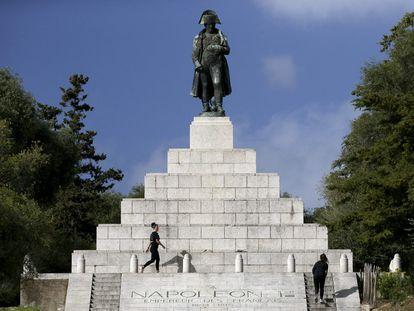 Monumento a Napoleón en su ciudad natal, Ajaccio (Córcega).