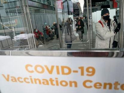 Centro de vacunación contra la covid-19 en Manhattan (Nueva York), el pasado 3 de febrero.