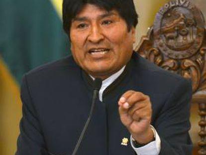 El presidente de Bolivia, Evo Morales, sostuvo en un discurso ante empresarios en la región de Santa Cruz que espera que los países miembros del Mercosur otorguen a Bolivia preferencias en aranceles y exportaciones. EFE/Archivo