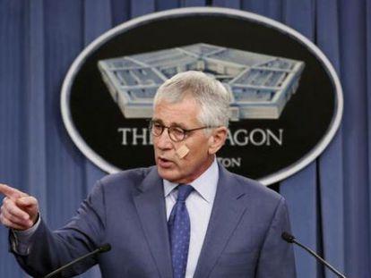 El secretario de Defensa de EE UU, Chuck Hagel.