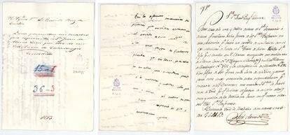 Documento histórico de la permuta del cuadro de Caravaggio por el de Alonso Cano.