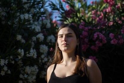 La estudiante de Derecho de la Universidad de Chile Mariana Contreras participó en las protestas del año pasado y se unió a un piquete legal para asistir a las víctimas de la represión.