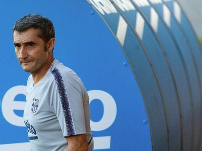 Valverde, en la Ciudad Deportiva del Barcelona.