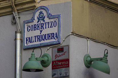 La calle Cobertizo y Faltriquera de Granada.