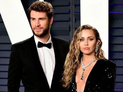 Liam Hemsworth y Miley Cyrus, en los Oscar, el pasado febrero.