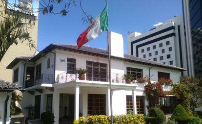 La Embajada mexicana en Quito.