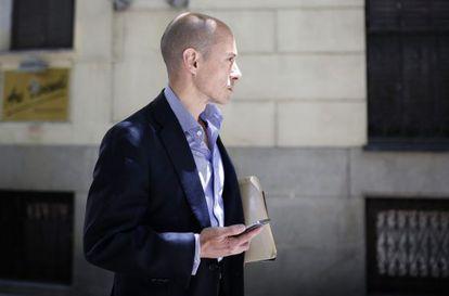 Jenaro García, tras prestar declaración en la Audiencia.