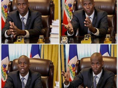 El presidente de Haití Jovenel Moïse durante la conversación con EL PAÍS vía videollamada.